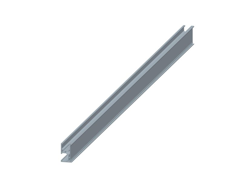 rail for ballasted flat roof mounting system
