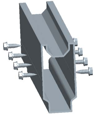 rail splice for aluminum ground mounting system