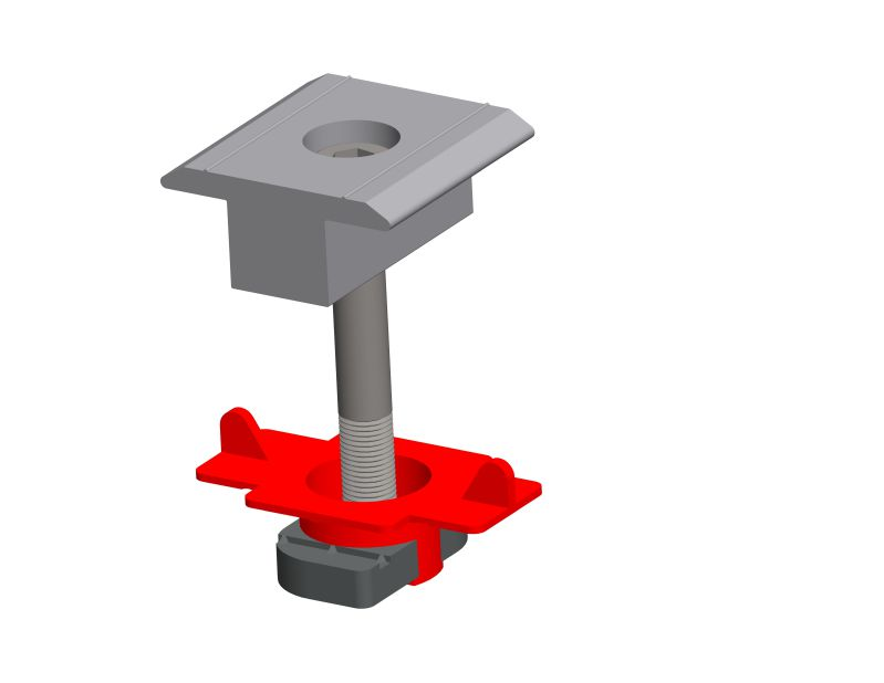 Inter clamp for Steel-terrain ground mounting system