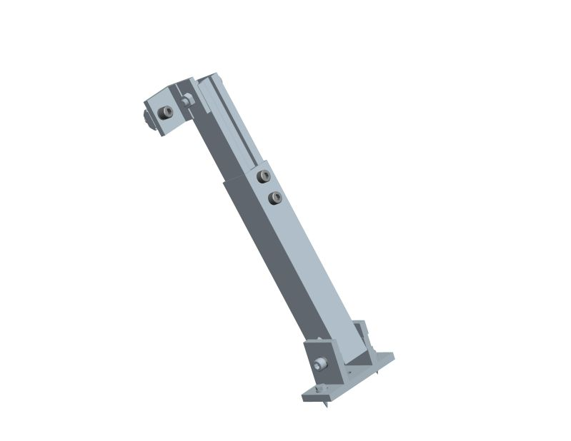 Back leg for tilt solra mounting systme