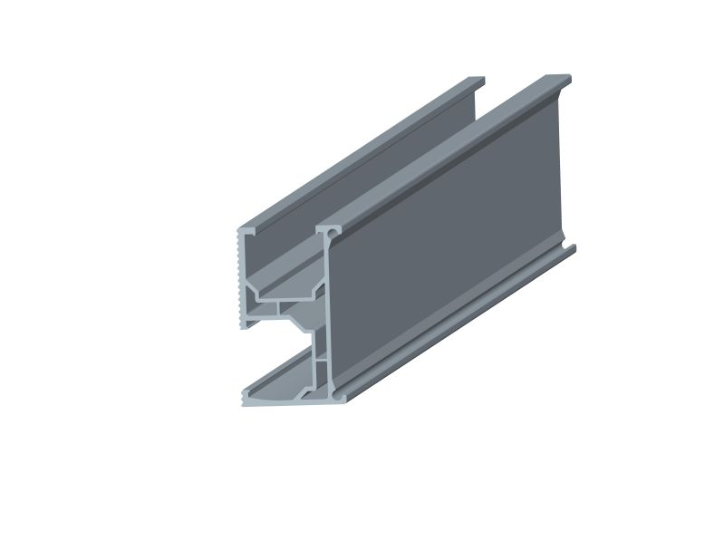 Rail for tin roof mounting