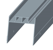 Supporting beam for waterproof Carport solar mounting system