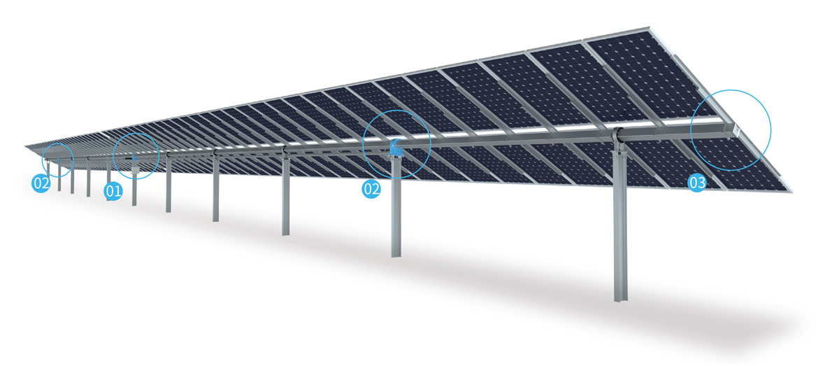 Single-axis tracker and PV system
