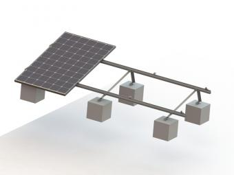 Triangle solar racking