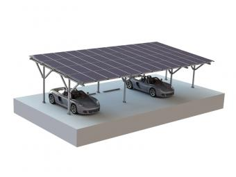 Waterproof solar carport