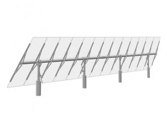 Manually angle-adjustable solar racking